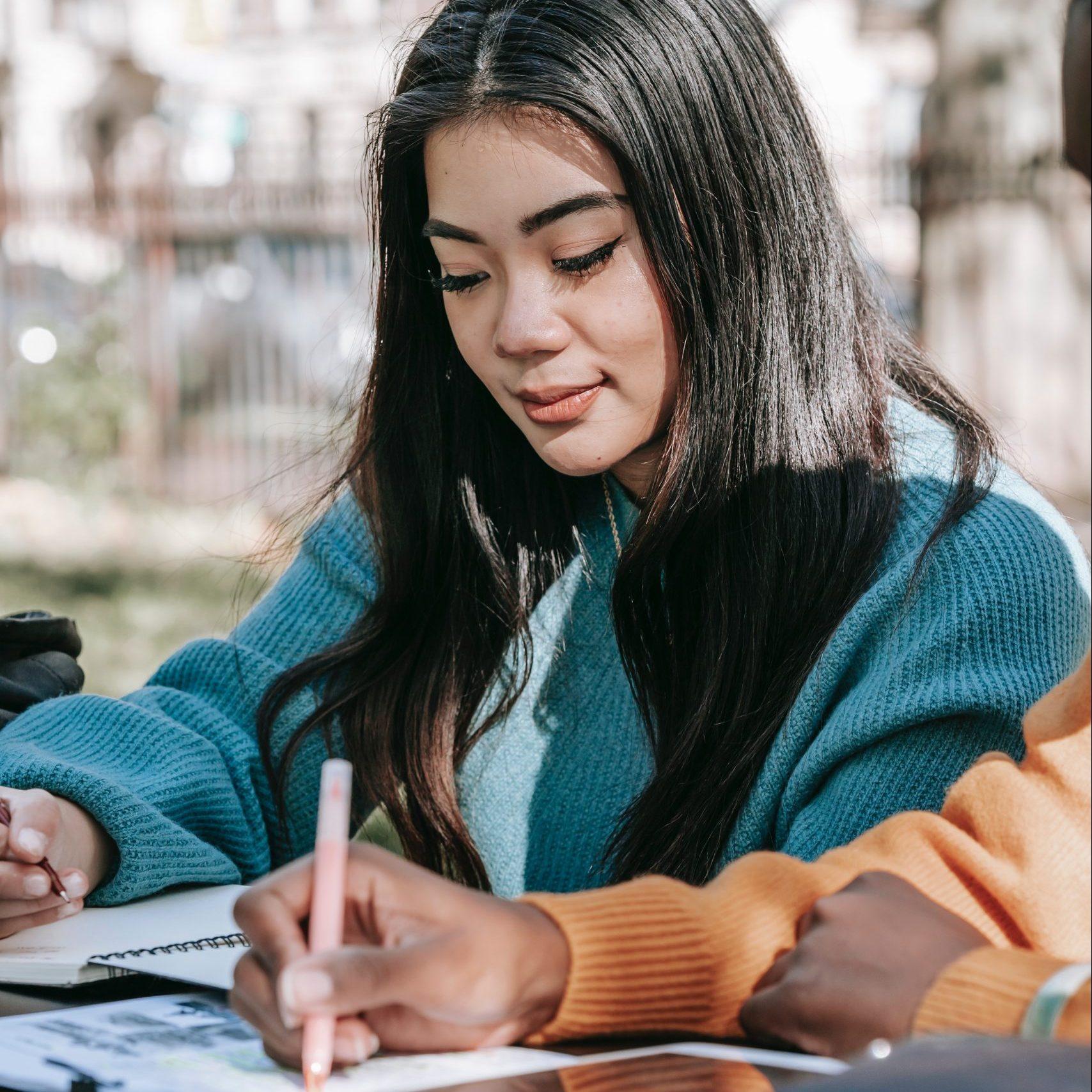 High School Student Doing Homework